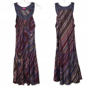 BCBG Girls purple print satin dress size S